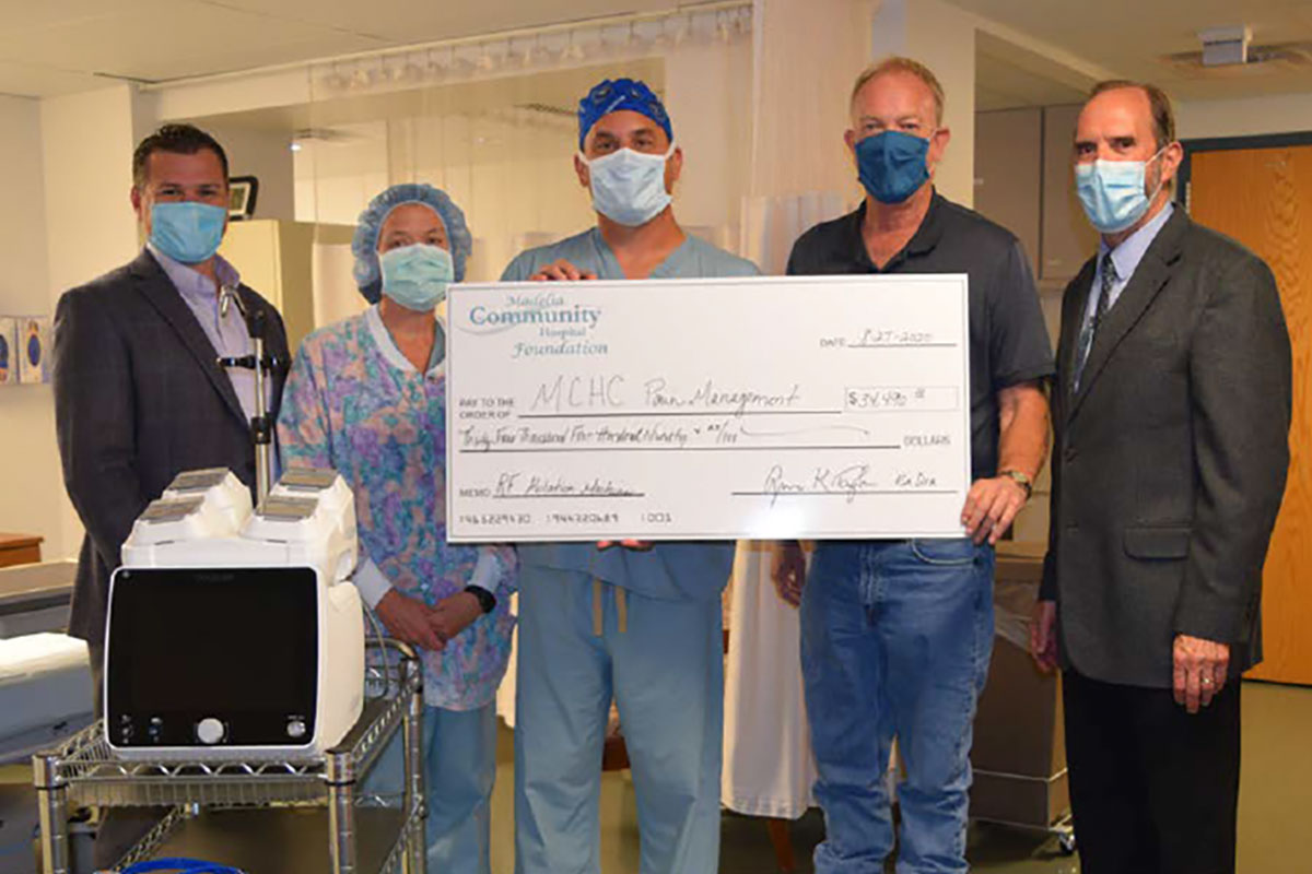 Radiofrequency Ablation Equipment and Donation Check