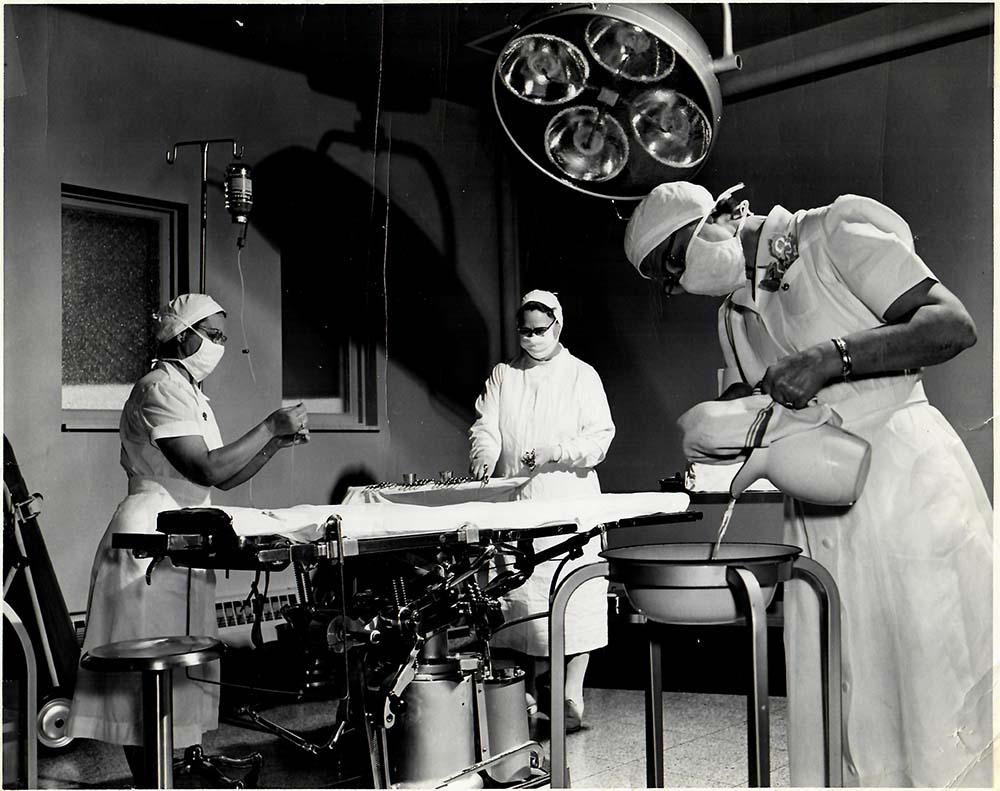 Prepping for Surgery, 1954